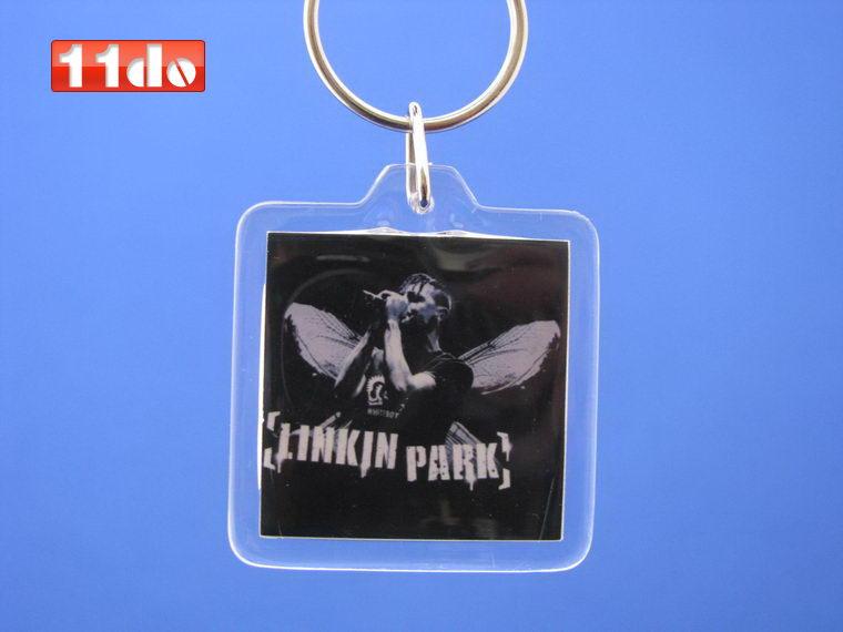 林肯公园钥匙链-透明钥匙扣-linkinpark图片